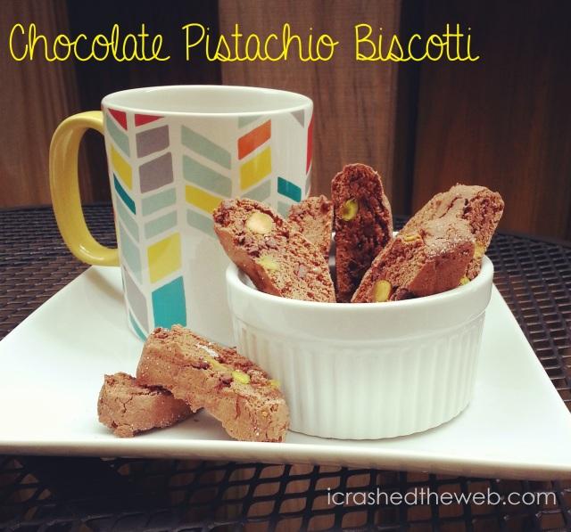 chocolate pistachio biscotti ~ i crashed the web