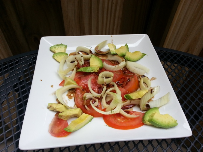 fennel tomato and avocado salad {i crashed the web}