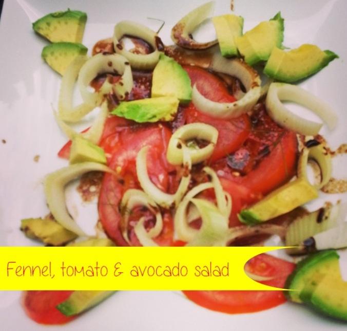 fennel tomato and avocado salad {i crashed the web}
