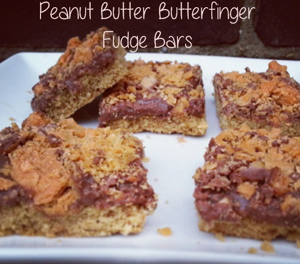peanut butter butterfinger fudge bars - i crashed the web