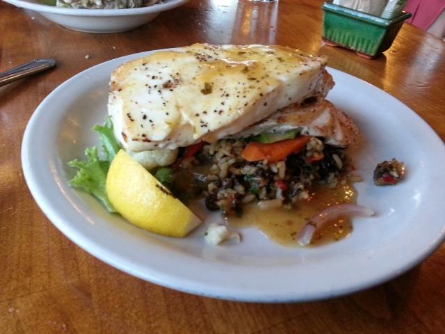 dinner in Eureka - fresh fish!
