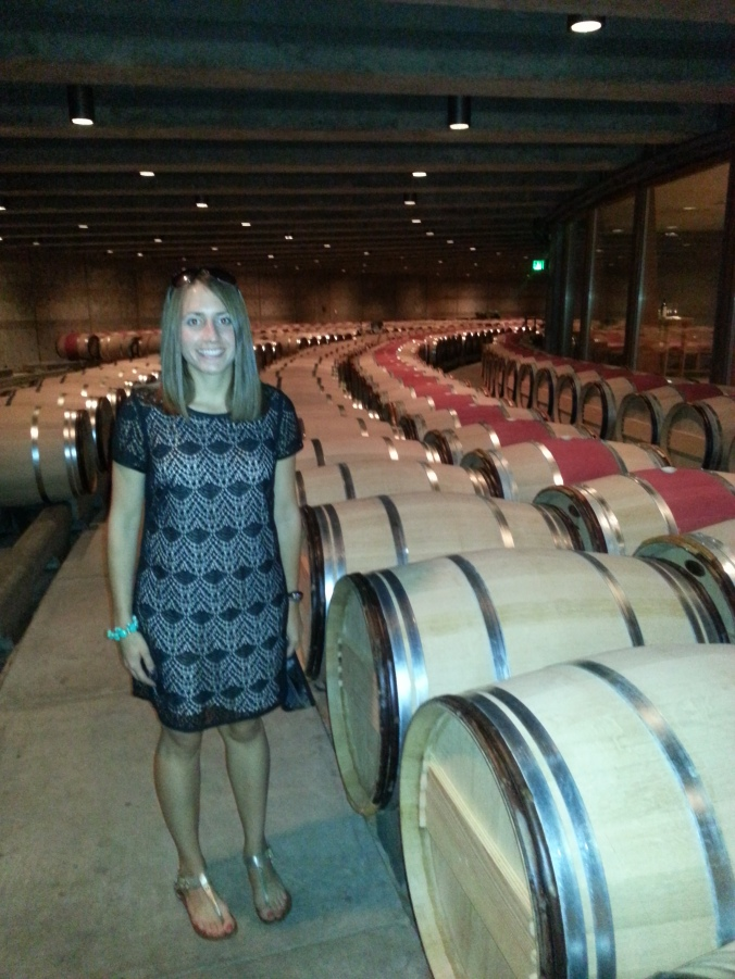 Barrels of wine just waiting to be opened!