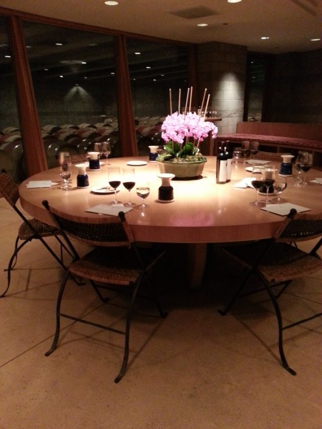 After our tour, we were greeted with this table for our tasting. Beautiful!