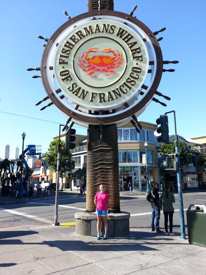 Running in Fisherman's Wharf