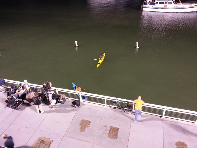 people watch Giants games from the water!