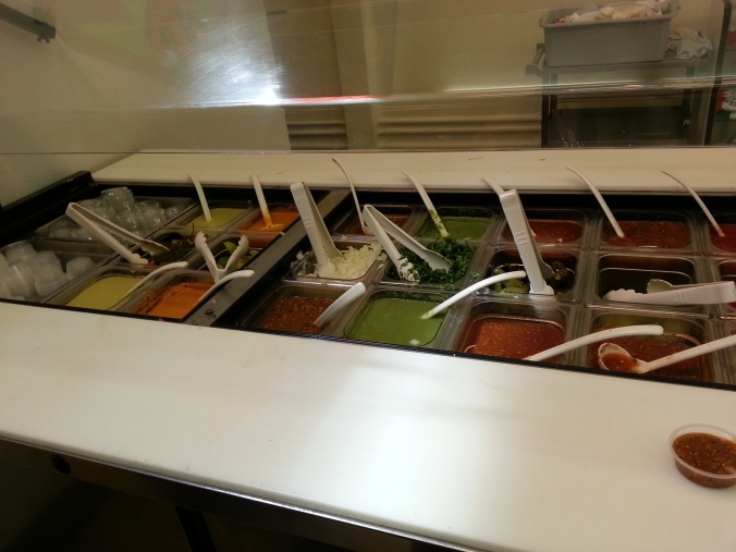 LOOK AT ALL THE SALSA!