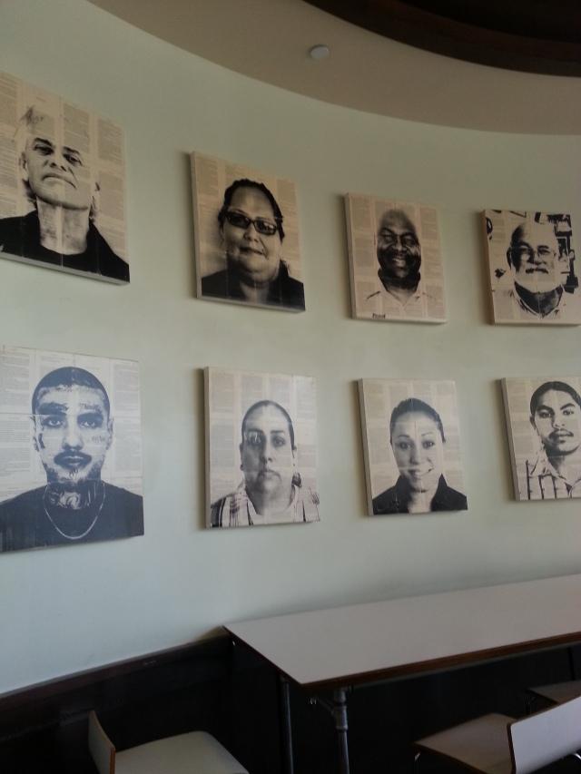Artwork at Homegirl Cafe