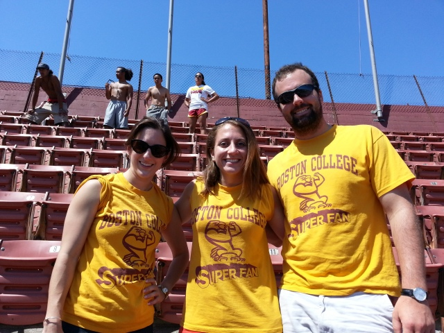 Superfans at BC game in LA!