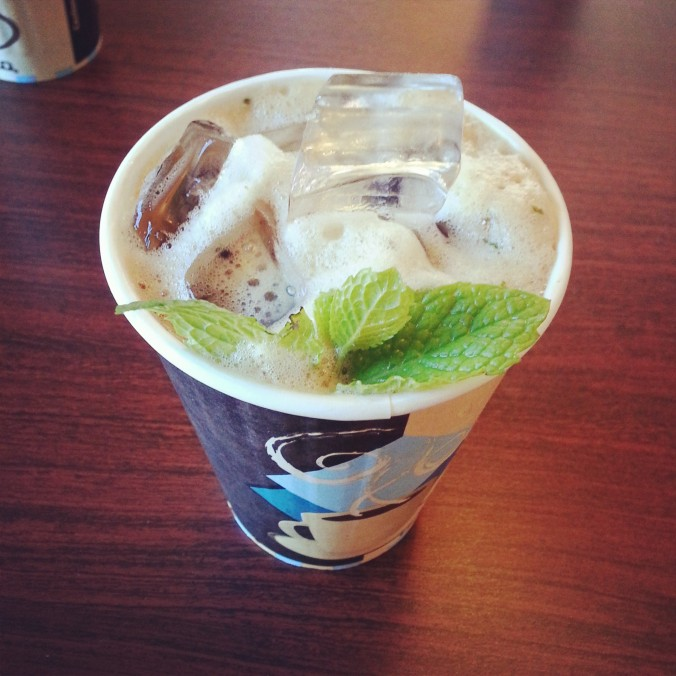 Philz coffee- mint mojito latte!