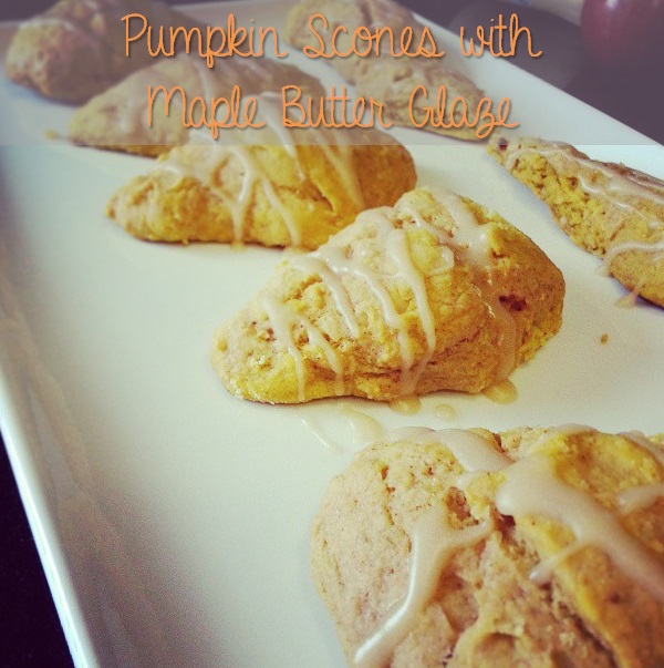 pumpkin scones with maple butter glaze {i crashed the web}
