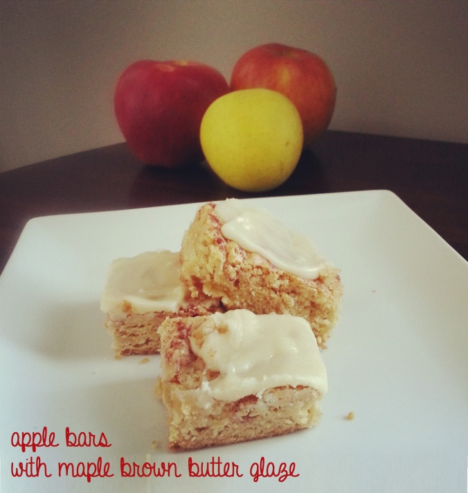 apple bars with maple brown butter glaze -- i crashed the web
