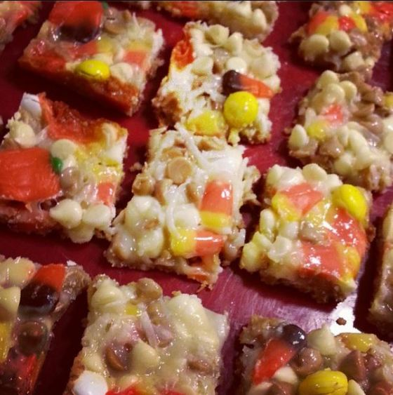 candy corn magic bars - i crashed the web