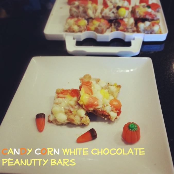 Candy Corn White Chocolate Peanutty Bars - I Crashed The Web