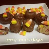 Halloween Candy Corn Buckeyes