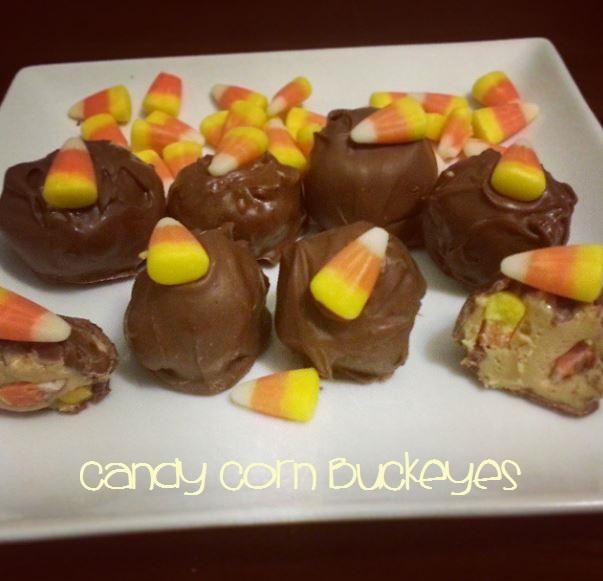 Halloween Candy Corn Buckeyes - i crashed the web