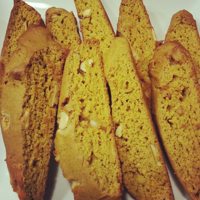 pumpkin white chip biscotti | i crashed the web