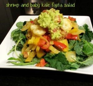 Shrimp and baby kale fajita salad i crashed the web