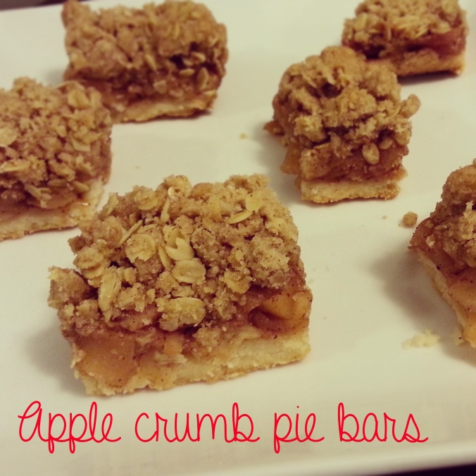 apple crumb pie bars - i crashed the web