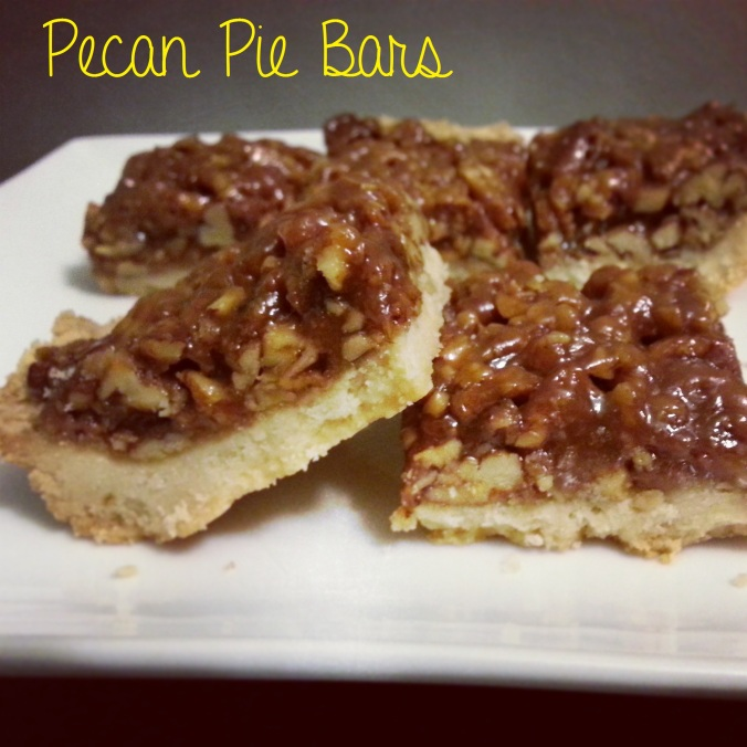 pecan pie bars - i crashed the web