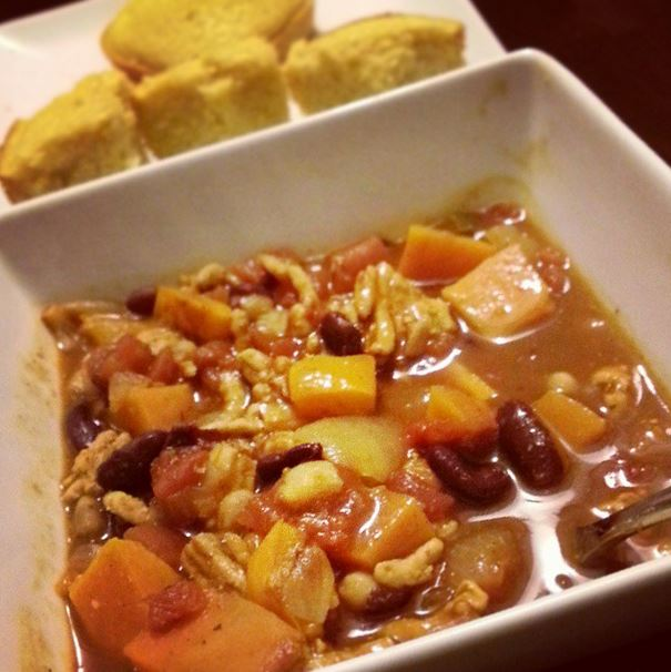 sweet potato chicken chili 2- i crashed the web
