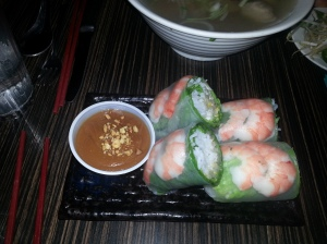 spring rolls at luc lac