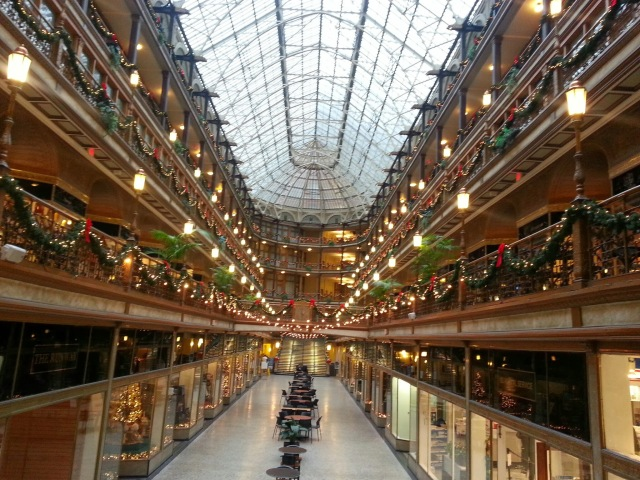 lights in the Arcade in Cleveland