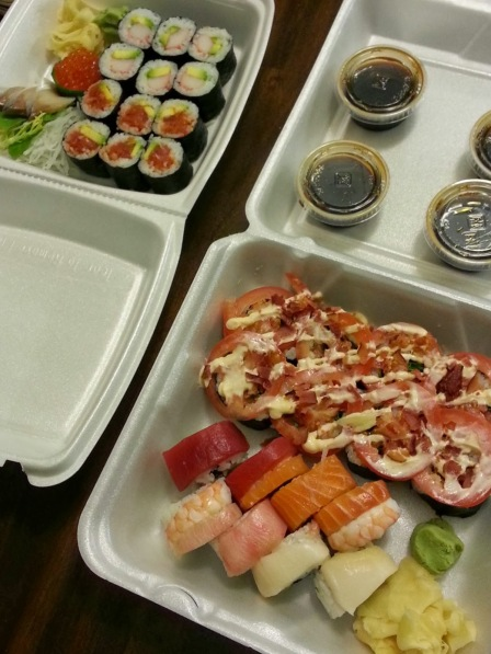another dinner thanks to Sushi 86