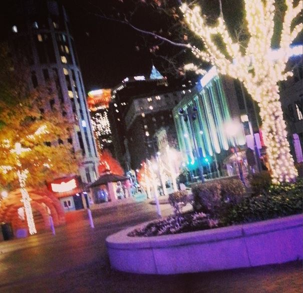 Lights around the Theatre District