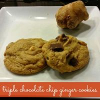 Triple Chocolate Chip Ginger Cookies