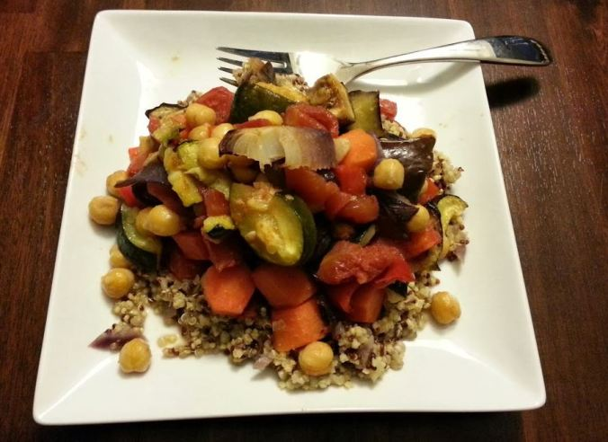 Vegetarian Chickpea Ratatouille - i crashed the web