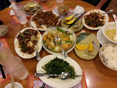 "The ""After"" picture from our Chinese feast"