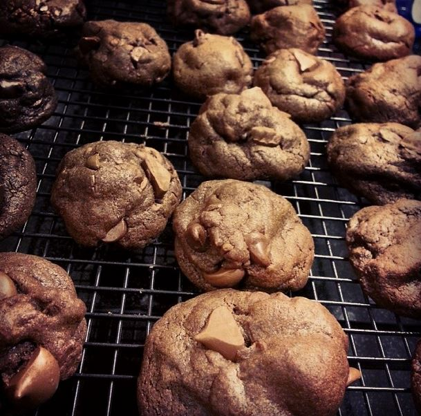 double chocolate chunk cookies - i crashed the web