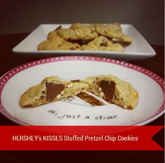 HERSHEY's KISSES Stuffed Pretzel Chip Cookies - i crashed the web