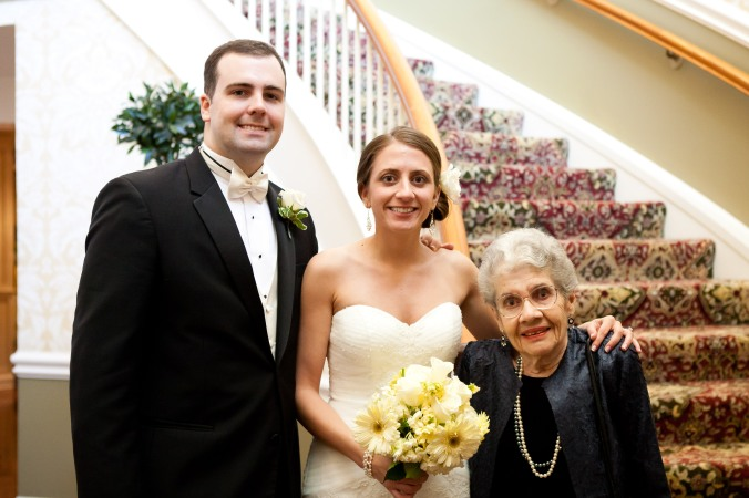My grandma, B and me on our wedding