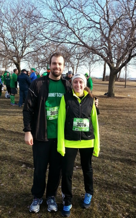 B and me in a pre-race photo