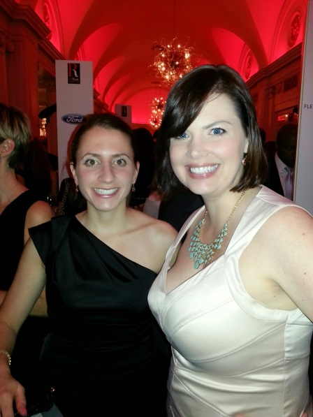Jennifer and I (our client was up for an award) at the program