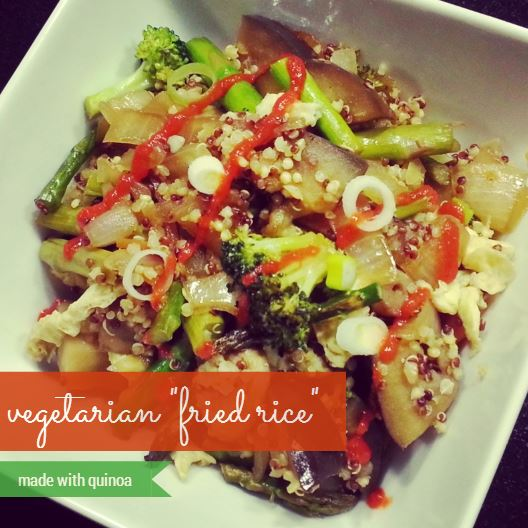 vegetarian fried rice with quinoa - i crashed the web