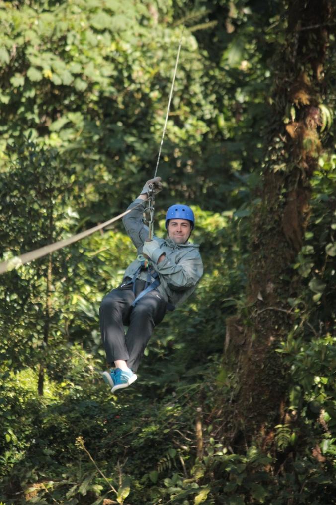 B ziplining in Monteverde