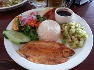 one of the many fish casados i enjoyed. this was at tico y rico in monteverde.
