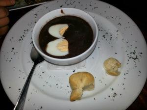 black bean soup at don luis in monteverde