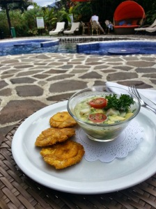ceviche by the pool at hotel nayara