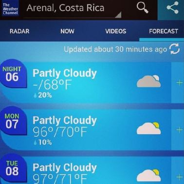 costa rica weather