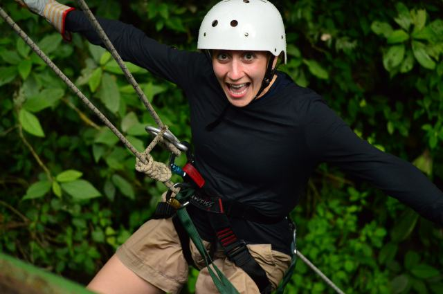 Wayyy to excited to be hands free rappelling.