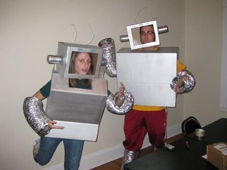 Halloween. We were the robots from Flight of the Conchords.