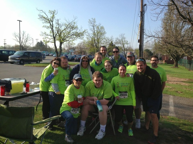 the whole group of us at the race