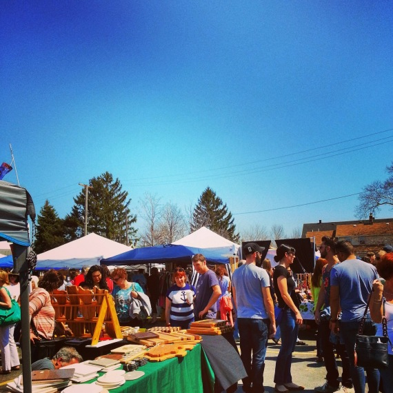 perfect day for the first Cleveland Flea.