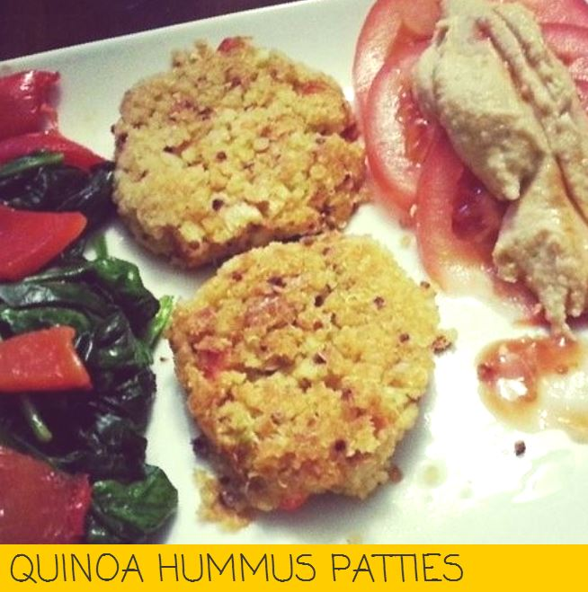 QUINOA HUMMUS PATTIES i crashed the web