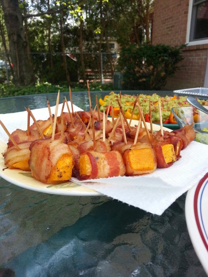 Bacon wrapped squash = amazing.