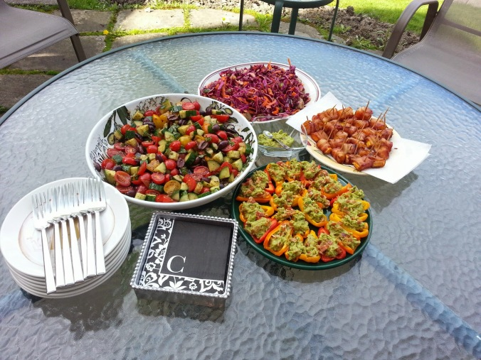 Paleo small plates and our outdoor Mother's Day dinner