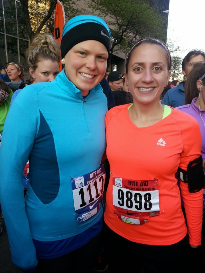 Mary and I at the starting corral in 2014